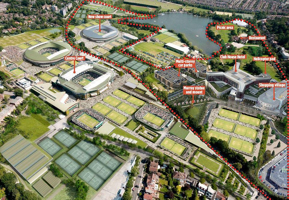 wimbledon tennis piano ampliamento