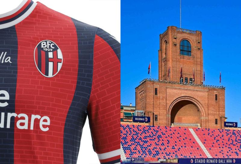 nuova maglia bologna 2021 2022 architettura