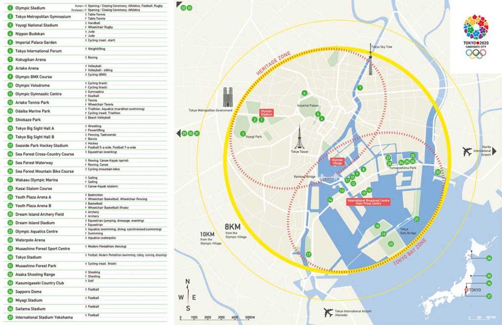 tokyo 2020 stadi mappa arene