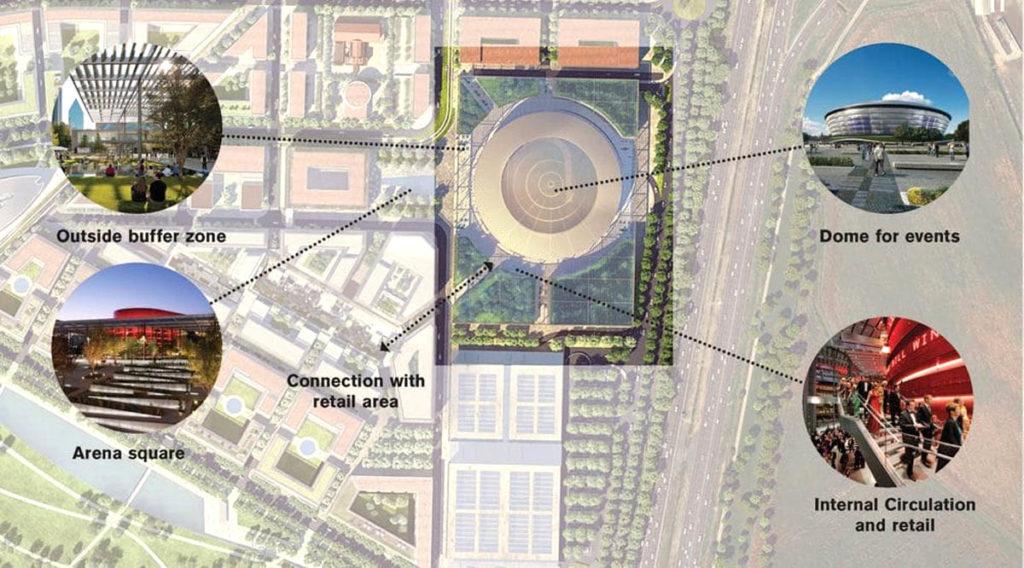 arena milano santa giulia 2026 mappa