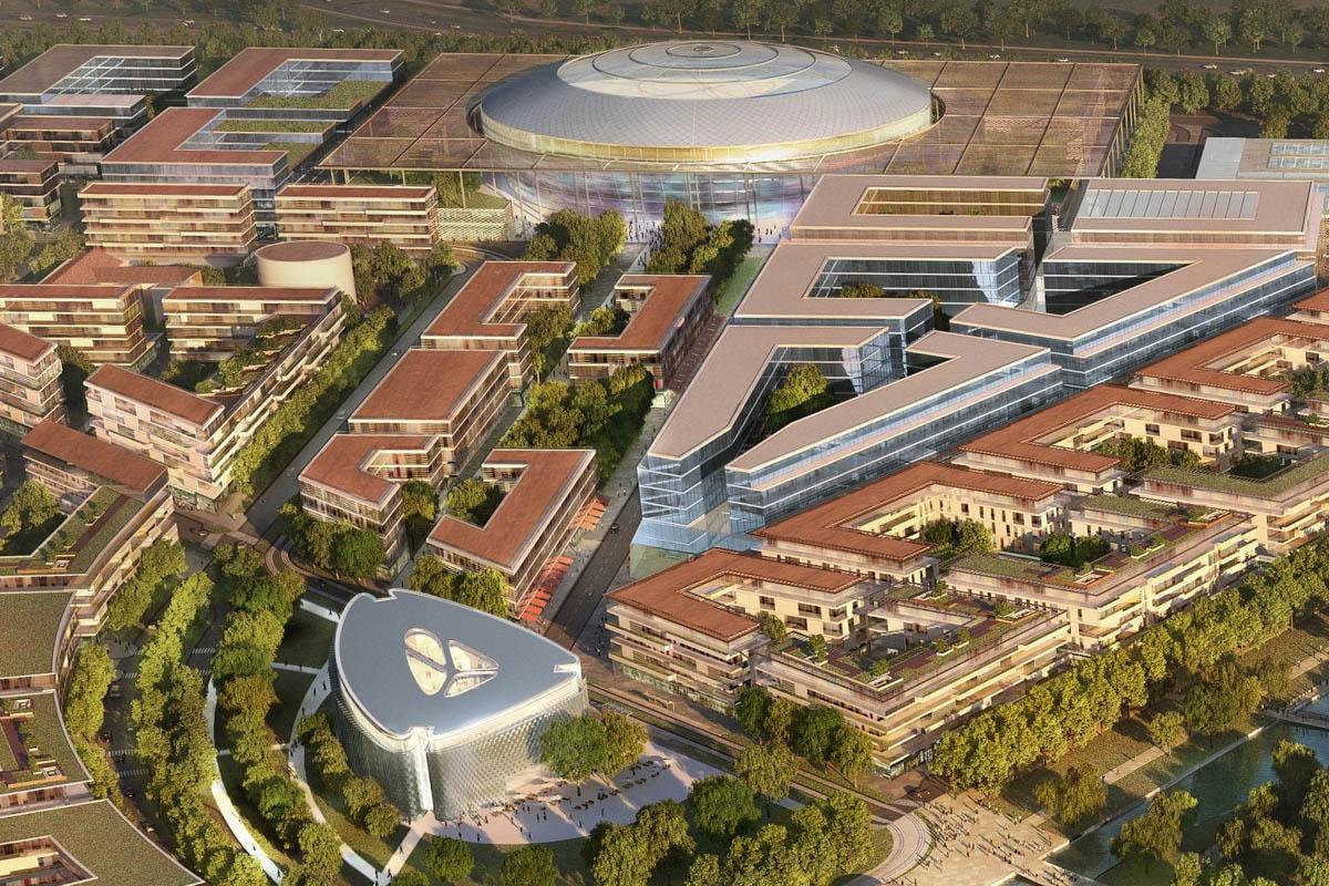 arena milano santa giulia 2026 render vista panoramica