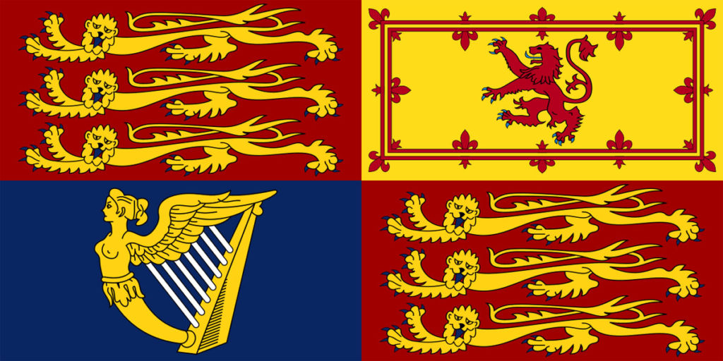 bandiera reale britannica irlanda inghilterra scozia
