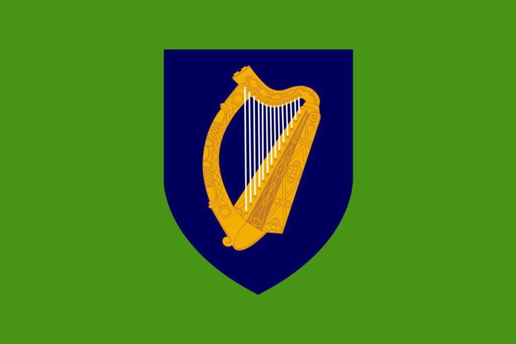 irlanda maglia blu stemma araldico