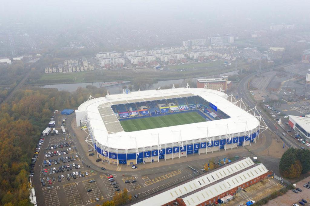 leicester city stadio king power vista aerea