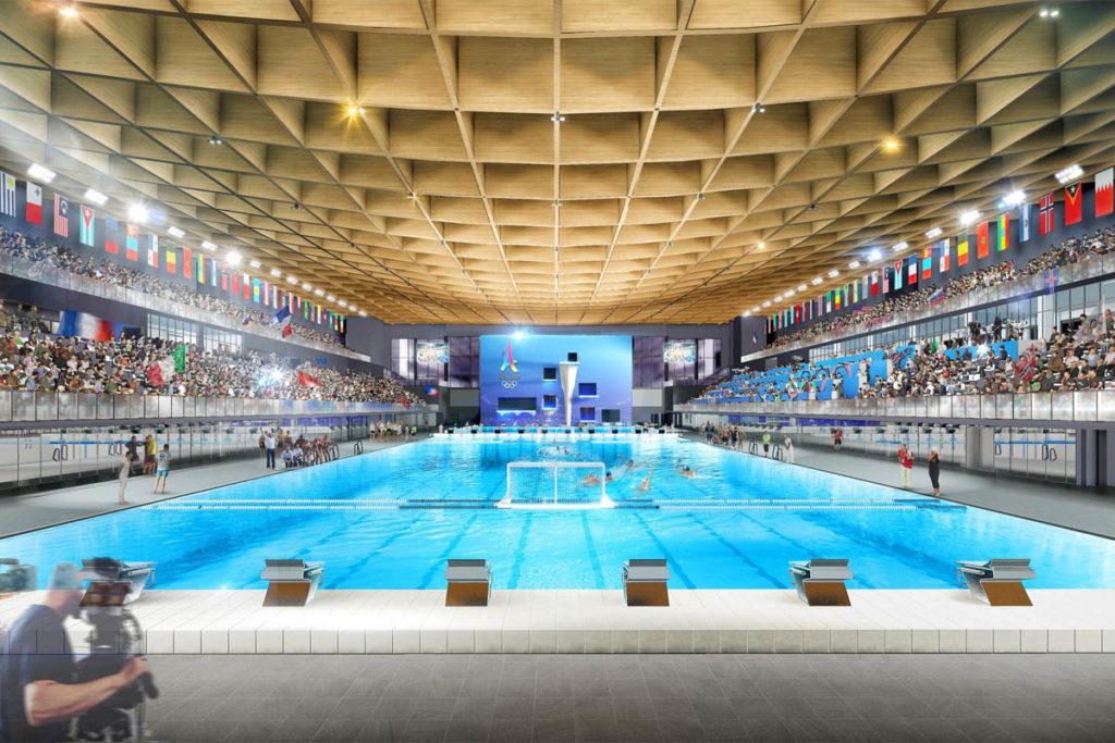 parigi 2024 olimpiadi render aquatics centre