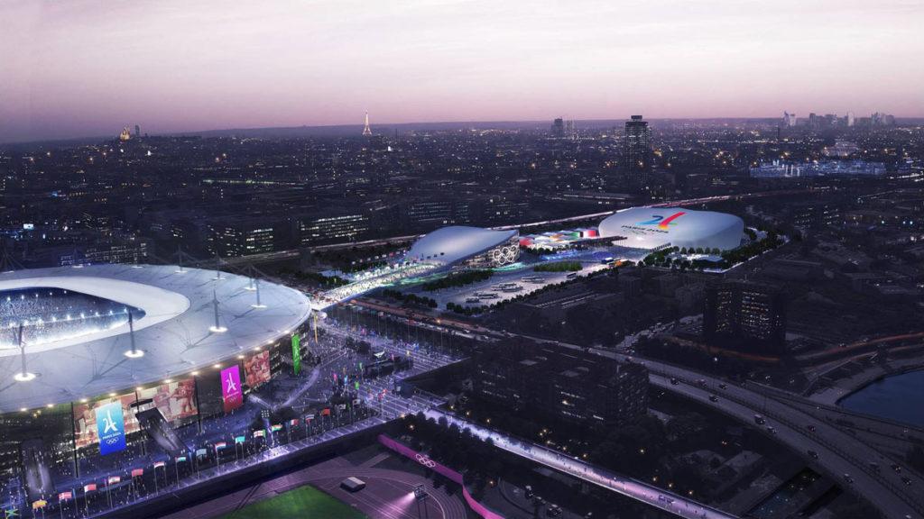 parigi 2024 olimpiadi render stade de france aquatics