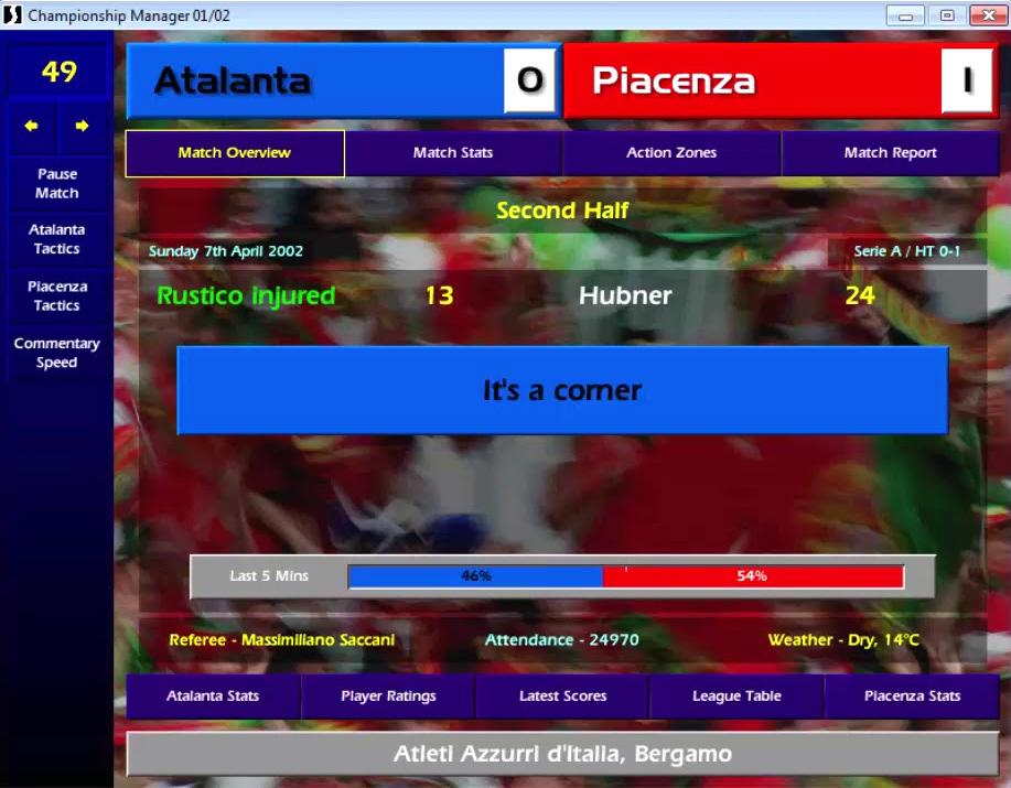 championship manager 01 02 atalanta hubner