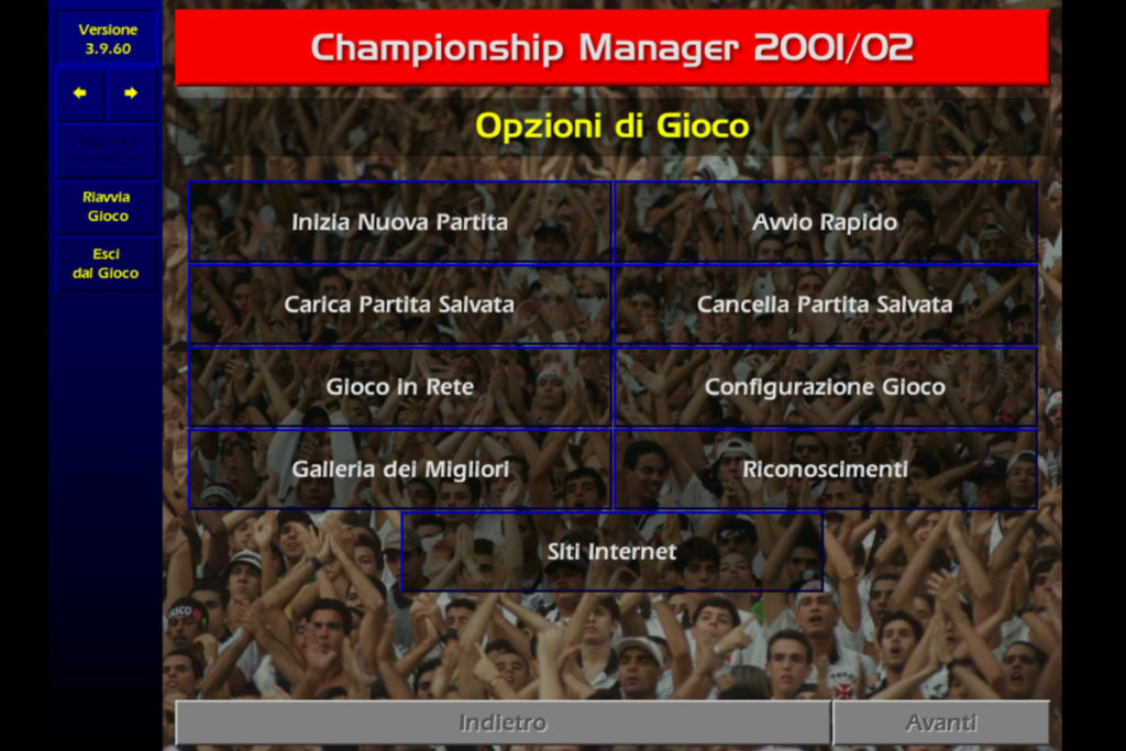 championship manager 01 02 schermata avvio