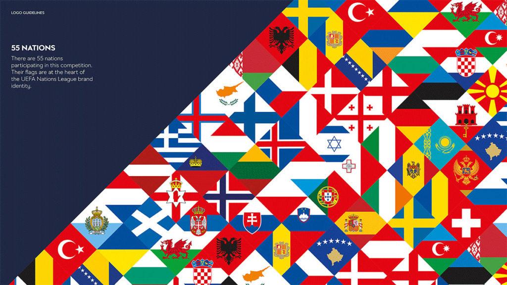 nations league logo bandiere